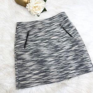LOFT Petites Tweed Zippered Mini Skirt Sz 4P